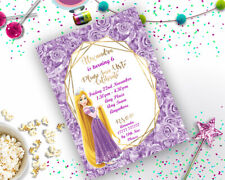 Personalised Disney Tangled Birthday Party Invitation A6 Rapunzel Princess