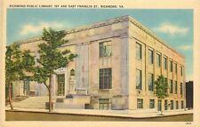 Richmond Virginia~Richmond Public Library~1st & East Franklin Streets~1940s Line