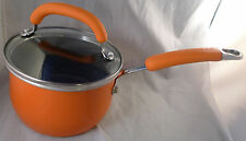 Rachael Ray 1 1/2 Qt Hard Anodized Aluminum Nonstick Orange Sauce Pan with Lid