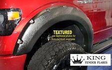 2009-2014 FORD F-150 RIVET pocket style KING FENDER FLARES Bolt-On TEXTURED