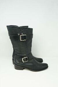 Vera Wang Lavender Label Women's Chantel Boots Black Leather Size 9.5