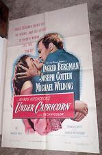 UNDER CAPRICORN orig 1949 one sheet movie poster INGRID BERGMAN/ALFRED HITCHCOCK