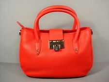 Jimmy Choo Rania Orange Medium Leather Handbag Shoulder Bag Purse Satchel New