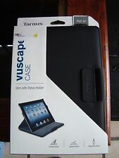 Targus Vuscape iPad Air 5th Gen Slim Case Stylus/Pen Holder Black THZ195US NEW