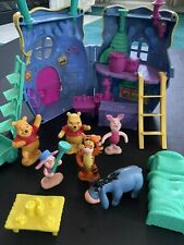 Vintage Disney Winnie the Pooh Honey Pot Playset with Figurines and Furniture