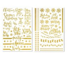 Christmas Gold Foil Glass Stickers Wine Bottle Decal Vinyl Wall Metal Craft Art