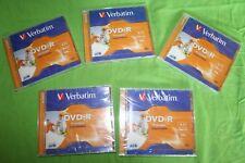Lot de 5 DVD-R boîtier standard Verbatim neuf
