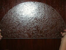 Exterior Door Arch top glass, Top fan lite window transom etched floral leaf
