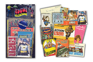 1960s Childhood Memorabilia Gift Pack with over 20 pieces of Replica Artwork