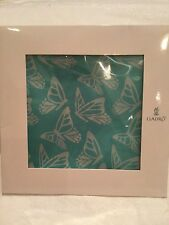 LLADRO Turquoise Butterfly Silk Scarf Discontinued New