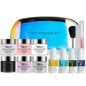 Mobray 6 different Dipping Powder Quick Dip Kit Set Big Size