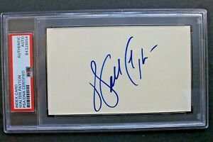 Walter Payton (d.1999) Chicago Bears HOF Autographed 3x5 Index Card Signed PSA