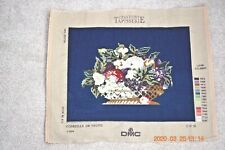 Lovely wool completed needlepoint tapestry Bowl of Fruits Creations Tapisserie