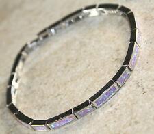 Silver Elegant Pink Fire Opal Bracelet
