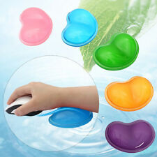 4 Colors Heart Shape Wavy Comfort Gel PC Mouse Hand Wrist Rest Support Cushion