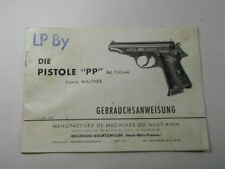 ORIGINAL GERMAN POLICE WALTHER PP BOOKLET