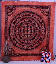 Ethnic Indian Elephant Art Wall Hanging Decor Mandala Psychedelic Throw Tapestry