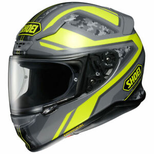 Shoei NXR Parameter TC-3  Large Grey Yellow Motorcycle Full Face Helmet