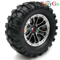 1 Stück RC 1/10 Alloy 1.9 Beadlock Felgen Rims Räder & 90mm Crawler Reifen Tires