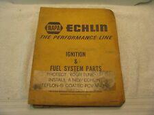 Vintage 1975 NAPA Echlin Fuel Systems Parts/Cars/Trucks/Marine/Emissions
