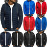 Men Padded Puffer Bubble Coat Warmer Jacket Zip Up Hooded Quilted Outwear Casual