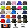Genuine Newhattan 100% Washed Cotton Bucket Bonnie Bush Hat Fishermen Summer Cap