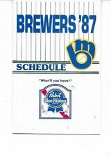 1987 Milwaukee Brewers Pocket Schedule (Pabst Blue Ribbon)