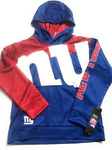 New NFL New York Giants Youth Boys' Hoodie Jacket, Blue/Red, Size Small 8