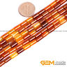 "Natural Carnelian Agate Gemstone Tube Beads For Jewelry Making Strand 15"" YB"