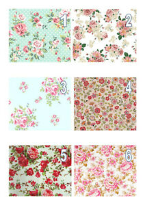 Edible Vintage Floral Wallpaper (1-6) A4 Icing Sheet Iced Cake Topper