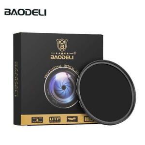 BAODELI 77mm Neutral Density Filter ND8 ND0.9 (3stops)