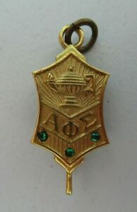USA FRATERNITY PIN ALPHA PHI SIGMA. MADE IN GOLD. MARKED. 1635