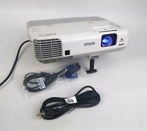 Epson H388A Power Lite 915W WXGA 3LCD Projector 1454Lamp Hrs 3200 Lumens WORKING