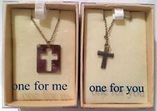 One For Me One For You Cross Necklaces Set of 2 Bff Best Friends Crucifix