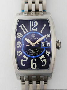 Never Worn Huge Cyma Dominator Automatic Chronometer Steel Mens Watch Big Date