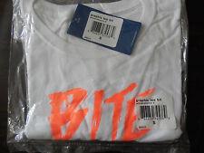"""REEBOK """"BITE THIS"""" SMALL    WHITE / VITAMIN C   LADIES NEW T-SHIRT"""