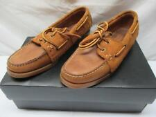 Ronnie Fieg by SEBAGO Brown Leather Slip-on Shoes Womens 7.5 Authentic DOCKSIDES