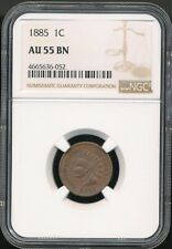 1885 Indian Cent NGC AU 55 BN *Better Date* *Sharp Coin!*