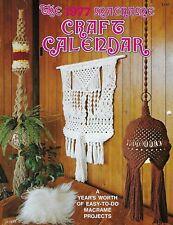 Vintage 1977 Macrame Craft Calendar Book C1977 Wall Hangings & Plant Hangers