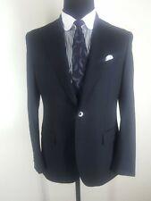 BEAU BRUMMEL Recent  Made In Italy Black Wool  Blazer  Peaked Lapels   40 Reg