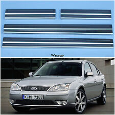 Ford Mondeo 00-07 Silver Stainless Steel Kick Plate Door Sill Protectors - K137S