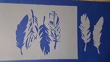 Schablonen 647 Federn Wandtattoos Vintage Fotowand Stanzschablone Shabby Stencil