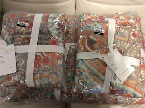 Pottery Barn King / Cal King Paloma Comforter & 2 King Shams NWT! Colorful