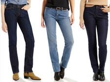 Womens Levi's 525 Perfect Waist Straight Leg Blue Jeans Size 4-16 Short & Medium