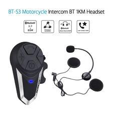 BT-S3 Bluetooth Intercom Motorcycle Helmet Interphone FM Radio+Earpieces 1000M