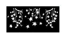 Decorative Garden Metal Fence Screen 'Autumn' Laser Cut, 1200x2400, Corten Steel