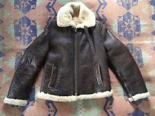 Vintage RAF Irvin Sheepskin Leather Bomber Jacket Unisex Small Women's