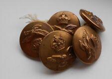 five   2.2cm   royal air force  2ww  RAF  brass uniform buttons  buttons ltd
