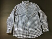 Vineyard Vines Mens Blue Plaid Button Front Long Sleeve Whale Shirt Size XL