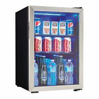 Danby 95 Can 2.6 Cu. Ft. Free Standing Beverage Center Mini Fridge w/ Glass Door